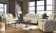 Rackingburg Cream Reclining Sofa, Reclining Loveseat & Rocker Recliner