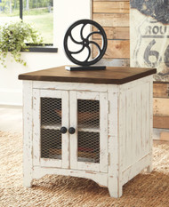 Wystfield White/Brown Chair Side End Table