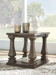 Johnelle Gray Rectangular End Table