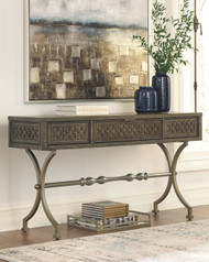 Quinnland Antique Black Console Sofa Table