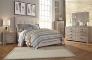 Culverbach Gray 5 Pc. Dresser, Mirror, Queen Upholstered Bed & 2 Nightstands