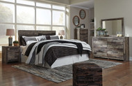 Derekson Multi Gray 6 Pc. King Panel Headboard, Dresser, Mirror, Chest & Nightstand