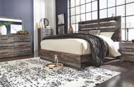 Drystan Multi 7 Pc. Dresser, Mirror, King Panel Bed & 2 Nightstands