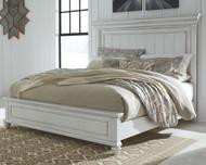 Kanwyn Whitewash King Panel Bed