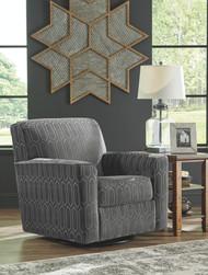 Zarina Graphite Swivel Accent Chair