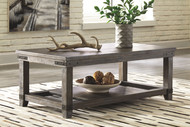 Danell Ridge Brown Rectangular Cocktail Table