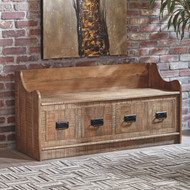 Garrettville Brown Storage Bench