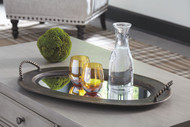 Milena Antique Gold Finish Tray