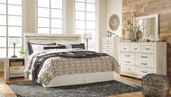 Bellaby Whitewash 6 Pc. Dresser, Mirror, Chest, King Panel Headboard & 2 Nightstands