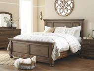 Flynnter Medium Brown 6 Pc. Dresser, Mirror, California King Panel Bed & Nightstand