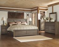 Juararo Dark Brown 8 Pc. Dresser, Mirror, Chest, California King Panel Bed & 2 Nightstands