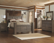 Juararo Dark Brown 6 Pc. Dresser, Mirror, Chest & Queen Poster Bed