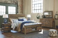 Sommerford Brown 7 Pc. Dresser, Mirror, King Storage Bed & 2 Nightstands
