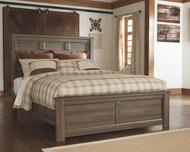 Juararo Dark Brown Queen Panel Bed