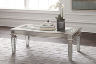 Tessani Silver Rectangular Cocktail Table