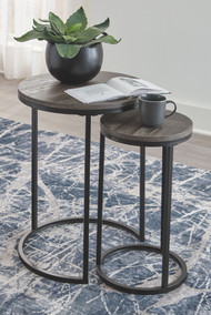Briarsboro Black/Gray Accent Table Set