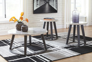 Luvoni White/Dark Charcoal Gray Occasional Table Set (3/CN)