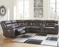 Kincord Midnight LAF Zero Wall Power Recliner, Armless Chair, Wedge & RAF Reclining Power Sofa with Console Sectional