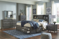 Caitbrook Gray 6 Pc. Dresser, Mirror, Chest & Queen Storage Bed