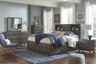 Caitbrook Gray 5 Pc. Dresser, Mirror & Queen Storage Bed