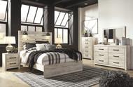 Cambeck Whitewash 5 Pc. Dresser, Mirror & Queen Panel Bed