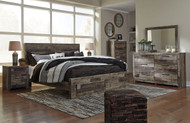 Derekson Multi Gray 8 Pc. Dresser, Mirror, King Storage Footboard Bed & 2 Nightstands