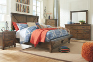 Lakeleigh Brown 7 Pc. Dresser, Mirror, King Upholstered Bed & 2 Nightstands