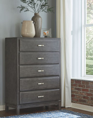 Caitbrook Gray Five Drawer Chest