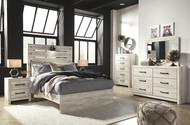 Cambeck Whitewash 5 Pc. Dresser, Mirror & Full Panel Bed