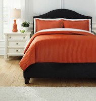 Raleda Orange King Coverlet Set