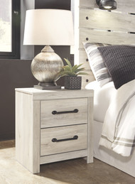 Cambeck Whitewash Two Drawer Night Stand