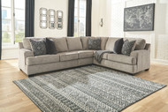 Bovarian Stone LAF Loveseat, Armless Chair & RAF Sofa/Couch with Corner Wedge Sectional