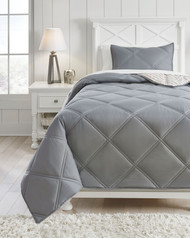 Rhey Tan/Brown/Gray Twin Comforter Set