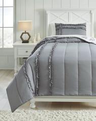 Meghdad Gray/White Twin Comforter Set