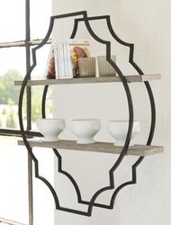 Candon Antique Gray/Black Wall Shelf