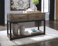 Johurst Grayish Brown Sofa Table