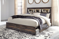 Drystan Multi King Bookcase Bed with Storage