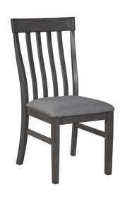 Luvoni Dark Charcoal Gray Dining Upholstered Side Chair