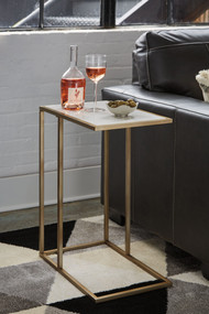 Lanport Champagne/White Accent Table