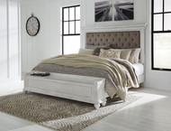 Kanwyn Whitewash Queen UPH Storage Bed