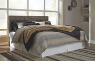 Derekson Multi Gray King Panel Headboard with Bolt on Bed Frame