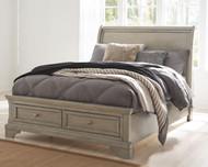 Lettner Light Gray Full Sleigh Bed