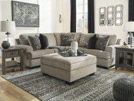 Bovarian Stone LAF Sofa with Corner Wedge, RAF Loveseat Sectional & Ottoman