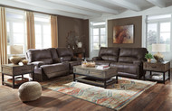 Kitching Java 2 Seat Power Reclining Sofa ADJ HDREST & Power Reclining Loveseat CON/ADJ HDRST