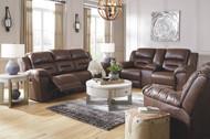 Stoneland Chocolate Reclining Power Sofa, Double Reclining Power Loveseat with Console & Power Rocker Recliner
