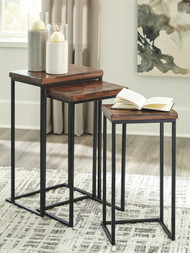 Cainthorne Brown/Black Accent Table Set (3/CN)