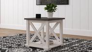 Dorrinson Two-tone Square End Table
