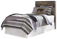 Derekson Multi Gray Twin Panel Headboard with Bolt on Bed Frame