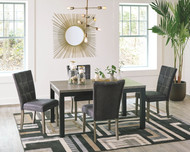 Dontally Two-tone 5 Pc. Rectangular  Table & 4 Upholstered Side Chairs