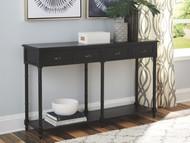 Eirdale Black Console Sofa Table
